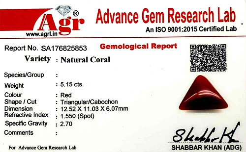Red Coral - 5.15 carats
