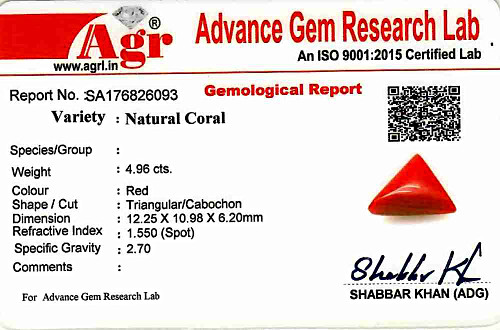 Red Coral - 4.96 carats