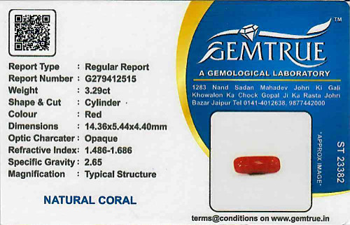 Red Coral - 3.29 carats
