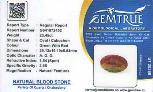Bloodstone - 23.45 carats