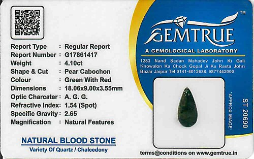 Bloodstone - 4.10 carats