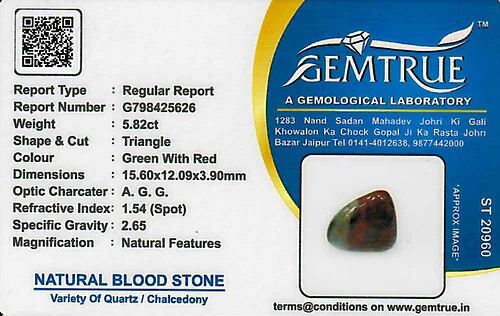 Bloodstone - 5.82 carats