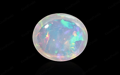 White Opal With Fire - 5.82 carats