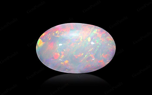 White Opal With Fire - 3.76 carats