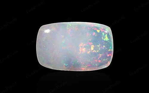 White Opal With Fire - 5.91 carats