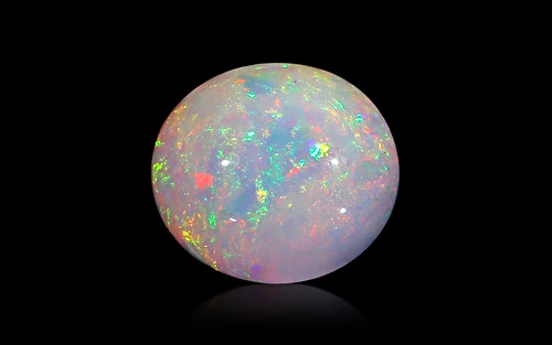 White Opal With Fire - 11.07 carats
