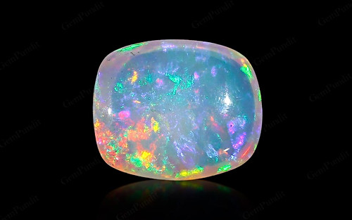 White Opal With Fire - 9.12 carats