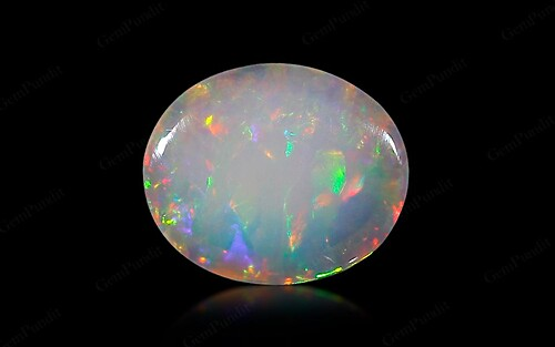 White Opal With Fire - 3.11 carats