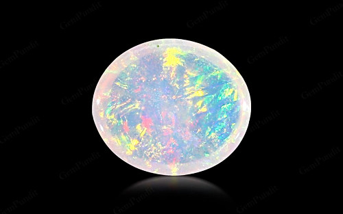 White Opal With Fire - 3.74 carats