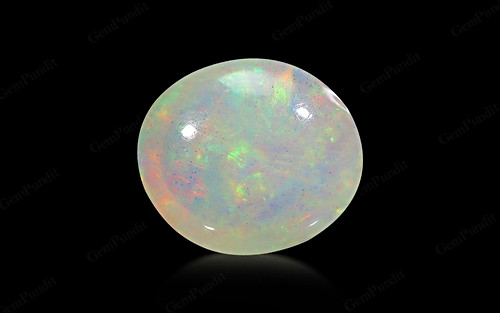 White Opal With Fire - 5.70 carats