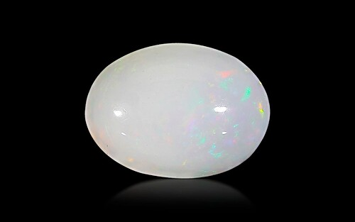 White Opal With Fire - 2.89 carats