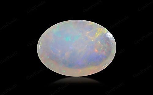 White Opal With Fire - 2.85 carats