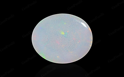 White Opal With Fire - 0.98 carats