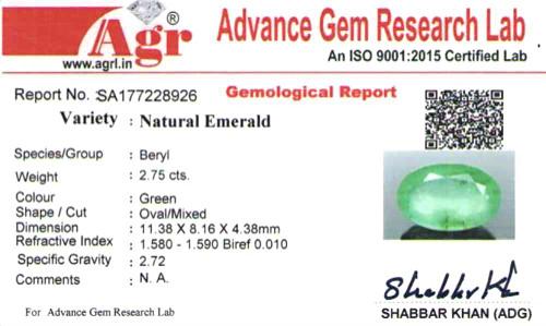 Emerald - 2.75 carats