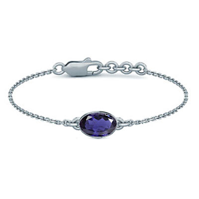 Iolite Sterling Silver Bracelet (B2) for Women
