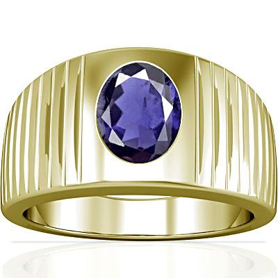 Iolite Panchdhatu Ring (A5)