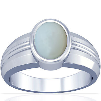 Moonstone Silver Ring (A4)