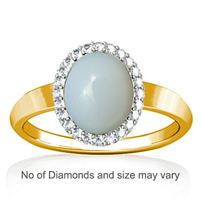 Moonstone Gold Ring (R1-Sparkle)