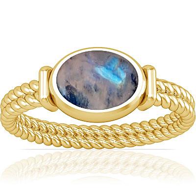 Rainbow Moonstone Gold Ring (A11)