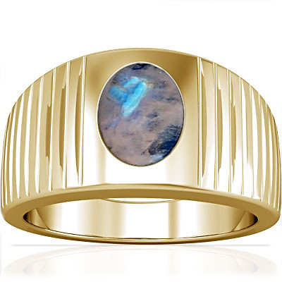 Rainbow Moonstone Gold Ring (A5)