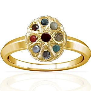 Navratna Gold Ring (A1)
