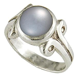 Pearl (Tahiti) Silver Ring (AP7)