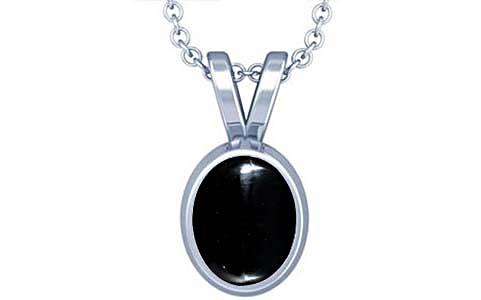 Black Onyx Silver Pendant (D1)