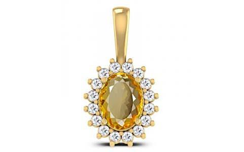 Citrine Gold Pendant (D4 SPARKLE)