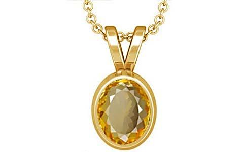 Citrine Gold Pendant (D1)