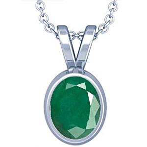Emerald Silver Pendant (D1)