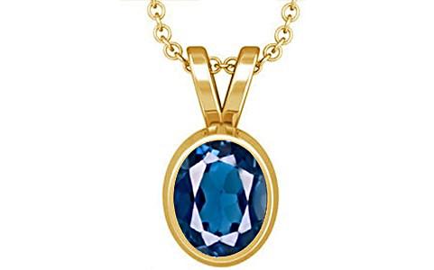 London Blue Topaz Gold Pendant (D1)