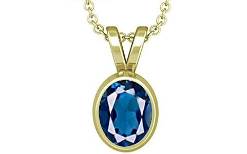 London Blue Topaz Panchdhatu Pendant (D1)