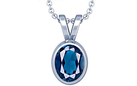 London Blue Topaz Silver Pendant (D1)