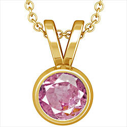 Pink Sapphire Gold Pendant (D1)