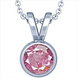 Pink Sapphire Sterling Silver Pendant (D1)