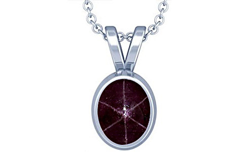 Star Ruby Silver Pendant (D1)