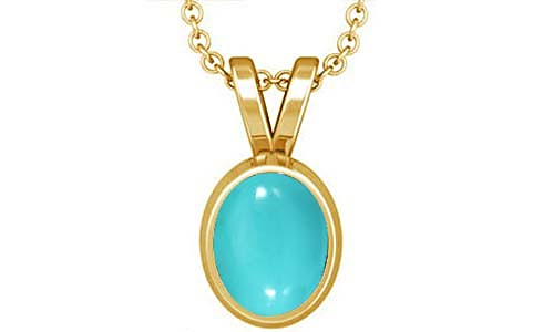 Turquoise Gold Pendant (D1)