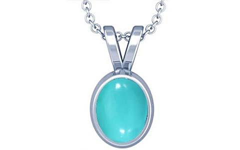 Turquoise Silver Pendant (D1)