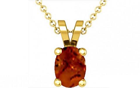 Brown Amber Gold Pendant (D2)