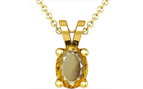 Citrine Gold Pendant (D2)
