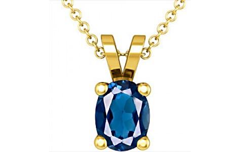 London Blue Topaz Gold Pendant (D2)