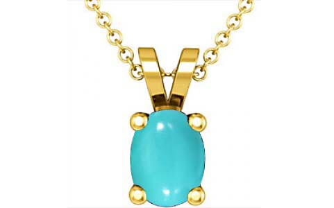 Turquoise Gold Pendant (D2)