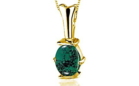 Turquoise Gold Pendant (D3)