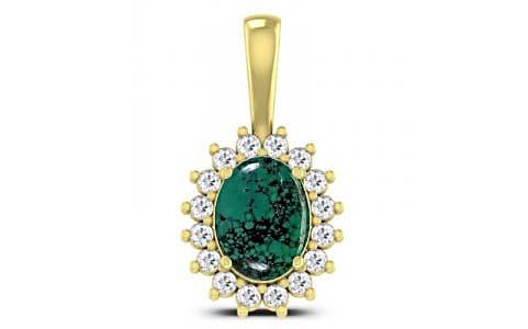 Turquoise Panchdhatu Pendant (D4 SPARKLE)