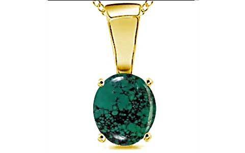 Turquoise Gold Pendant (D4)