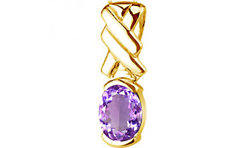 Amethyst Gold Pendant (D5)