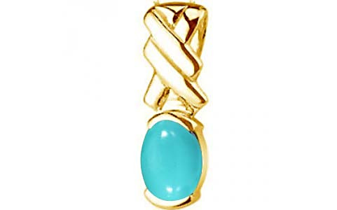 Turquoise Gold Pendant (D5)