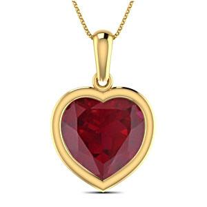 Loyal Ruby Heart Pendant (9.5x10 mm)