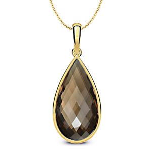 Dazzling Smoky Quartz Drop Pendant