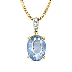 Virtuous Blue Sapphire Oval Pendant